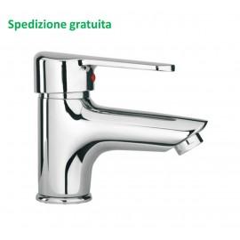 Miscelatore lavabo Paini serie Cooper scarico con piletta 80CR211 cromato