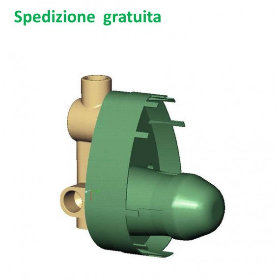 Doccia Vasca Ideal Standard.Kit 1 Corpo Incasso Universale Per Doccia E Vasca Ideal Standard Serie Universal A2650nu