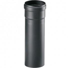 Tubo nero in ghisa Ø 80 x 500 mm per stufa a pellet