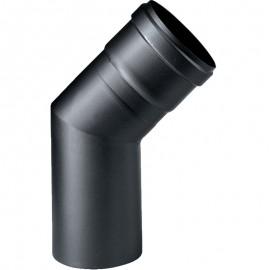 Gomito 45° nero in ghisa Ø 80 mm MF per stufa a pellet