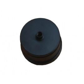 Tappo condensa nero in ghisa Ø 80 mm F per stufa a pellet