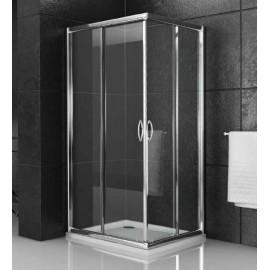 Box doccia ad angolo 68 78 cm acrilico con profilo bianco for Arredo doccia bagno
