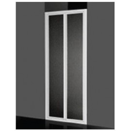 Box doccia a parete fissa 68/72 cm acrilico con profilo bianco Giava Smeralda SF01MBI