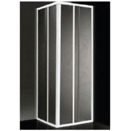 Box doccia ad angolo 68/80 + 79/90 cm acrilico con profilo bianco Giava Smeralda S03MBI