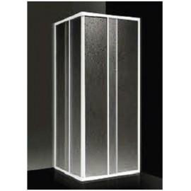 Box doccia ad angolo 78/88 cm acrilico con profilo bianco Giava Elba E02BI