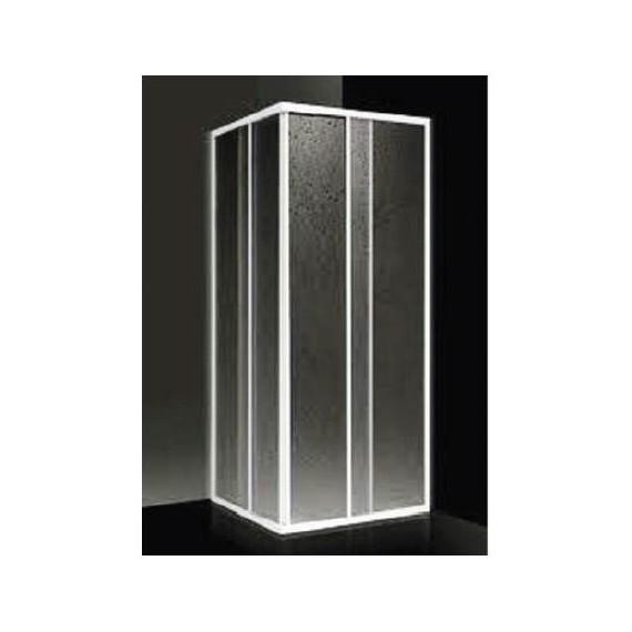 Giava Box Doccia Prezzi.Box Doccia Ad Angolo 78 88 Cm Acrilico Con Profilo Bianco Giava Elba