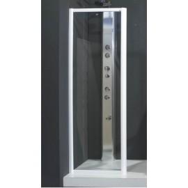 Box doccia a parete fissa 77,5/81 cm vetro stampato 3 mm Decor Profil Carlotta F80STC