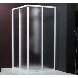 Box doccia ad angolo 67,5/80,5 cm vetro stampato 3 mm Decor Profil Martina MS70/80STC