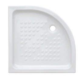 Piatto doccia semicircolare 90 x 90 cm H 10 cm porcellana antiscivolo bianco