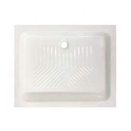 Piatto doccia rettangolare 72 x 90 cm H 10 cm porcellana antiscivolo bianco