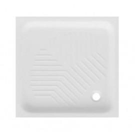 Piatto doccia quadrato 80 x 80 cm H 10 cm porcellana antiscivolo bianco