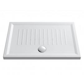 Piatto doccia rettangolare 80 x 120 slim cm H 5,5 cm porcellana antiscivolo bianco