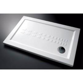Piatto doccia rettangolare 72 x 90 slim cm H 5,5 cm porcellana antiscivolo bianco