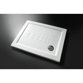 Piatto doccia quadrato 90 x 90 slim cm H 5,5 cm porcellana antiscivolo bianco