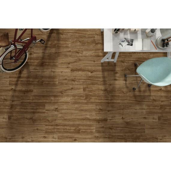 Gres Porcellanato Pavimenti.Pavimento Gres Porcellanato Effetto Legno 24 X 88 Cm Emotion Ceramics Serie Wild Caoba Emp120