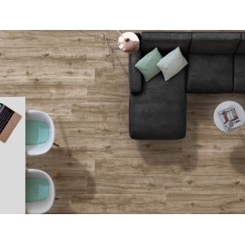 Pavimento grès porcellanato effetto legno 24 x 88 cm Emotion Ceramics serie Wild Beige EMP120
