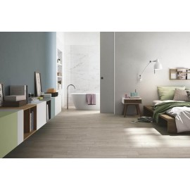 Pavimento grès porcellanato 15 x 60 cm bianco effetto legno Ceramiche San Nicola