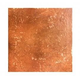 Pavimento grès porcellanato 33,3 x 33,3 cm color cotto Ceramica Castelvetro