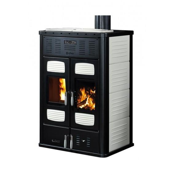 Klover BI-FIRE ACS F.A. BF-ARP avorio Termostufa a pellet e legna 28,6 kW