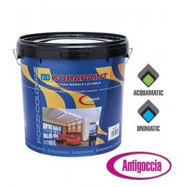 Idropittura murale lavabile autodilatante Pozzi Corapaint 14 Lt  22012.0000 bianco