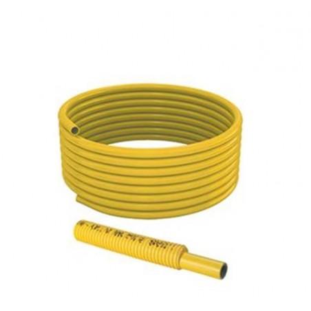 Tubo multistrato per gas 20x2 rivestito con guaina corrugata Giacomini Multigas G999IY044 rotolo 50 mt giallo
