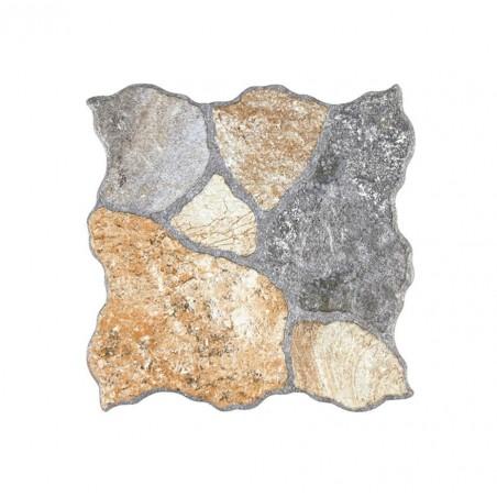 Grès porcellanato effetto pietra 31,6 x 31,6 cm Ceramica Gomez Tundra Rustico