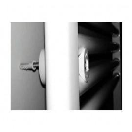 (Termoarredo acciaio - disponibili diverse misure) Scaldasalviette bianco Ø25 mm Ercos linea Monica ASMONF9010