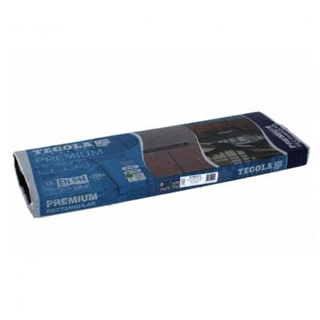 Tegola bituminosa Tegola canadese Premium Rectangular 3,05 mq 2101030001003 rosso spagna