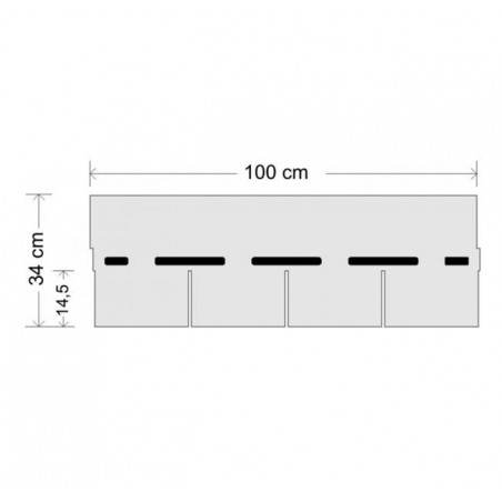 Tegola bituminosa Tegola canadese Premium Rectangular 3,05 mq 2101030001070 verde sfumato