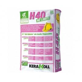 Colla Kerakoll H40 No Limits kg 25 bianco 07202