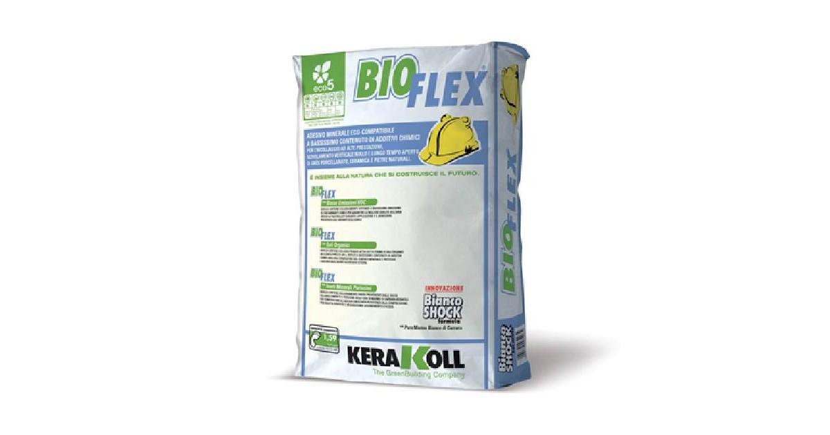 Kerakoll Bioflex 25 kg 07701 bianco Colla in polvere per ceramiche e pietre naturali
