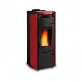 Termostufa a pellet ventilata 14 kW Melinda Idro Steel 2.0 La Nordica Extraflame