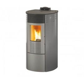 Stufa a pellet 10.1 kW King 12 Round antracite