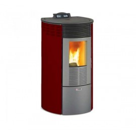 Stufa a pellet 10.1 kW King 12 Round bordeaux