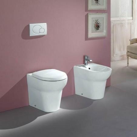 WC filo muro scarico a parete Infinity Rak Ceramics