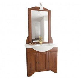 Mobile bagno arte povera 75 cm con lavabo e specchio - Doria 9616