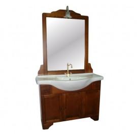 Mobile bagno arte povera 105 cm con lavabo e specchio  - Grazia 15225