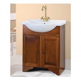 Mobile bagno arte povera 65 cm con lavabo integrale - Larisa 7541