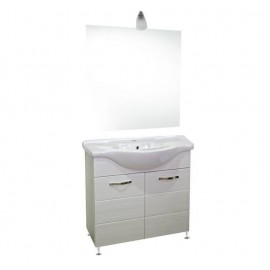 Mobile bagno 85 cm con lavabo e specchio bianco portuna - Antonella 16891