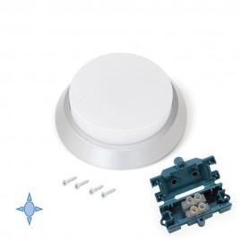 Faretto LED Ø 100 mm con luce bianca fredda in plastica grigio metallizzato