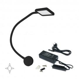 Applique LED quadrato con braccio flessibile