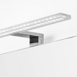 Applique LED 30 cm specchio da bagno luce bianca fredda per in alluminio e plastica cromato