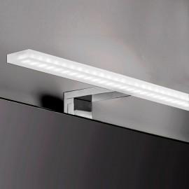 Applique LED 80 cm per specchio da bagno luce bianca fredda in alluminio e plastica cromato