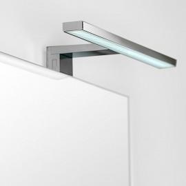 Applique LED 30 cm IP44 per specchio luce bianca fredda da bagno in alluminio e plastica cromato