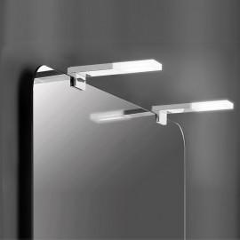 Applique LED 40 cm IP44 per specchio da bagno luce bianca fredda in alluminio e plastica cromato