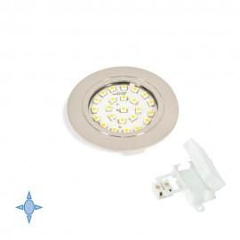 Faretto LED Ø 65 mm luce bianca fredda ad incasso in nichel satinato