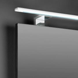 Applique LED 80 cm IP44 per specchio da bagno luce bianca fredda in alluminio e plastica cromato