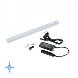 Applique LED 55 cm luce bianca fredda con sensore touch in alluminio e plastica