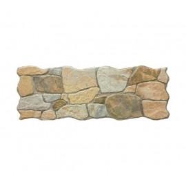 Rivestimento grès porcellanato 16 x 42 cm effetto pietra vergato ocra