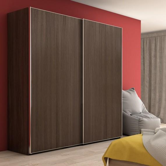Sistema scorrevole per armadio 2 ante di spessore 19-20 mm